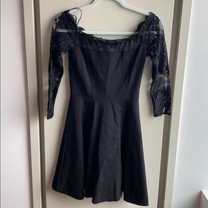 Zip up black lace dress *NWT*